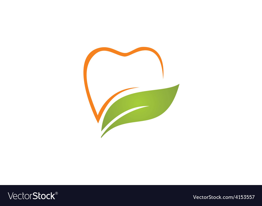 Teeth dentist natural herbal logo vector | Price: 1 Credit (USD $1)