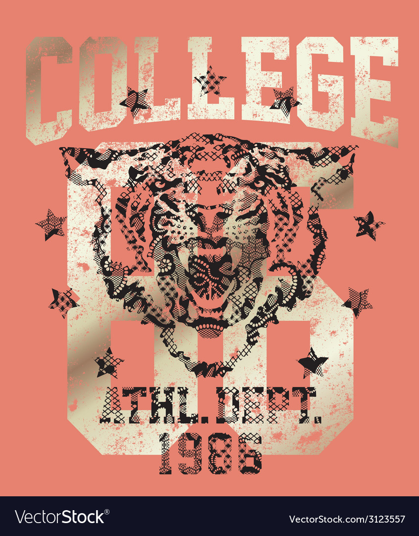 Tiger athletic department vector | Price: 1 Credit (USD $1)