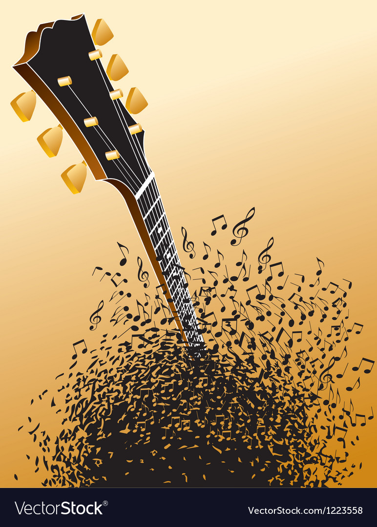 Background with guitar headstock vector | Price: 1 Credit (USD $1)