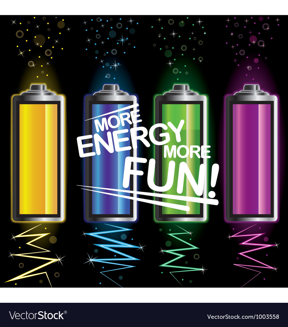 Battery fun energy vector | Price: 1 Credit (USD $1)