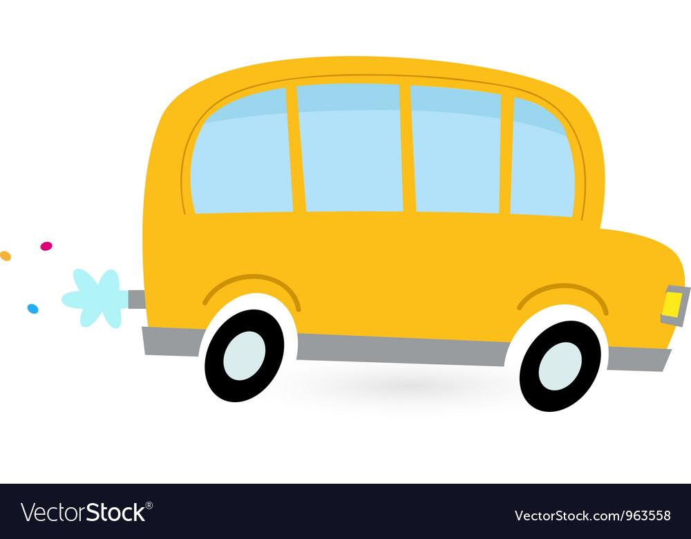 Cartoon school bus vector | Price: 1 Credit (USD $1)