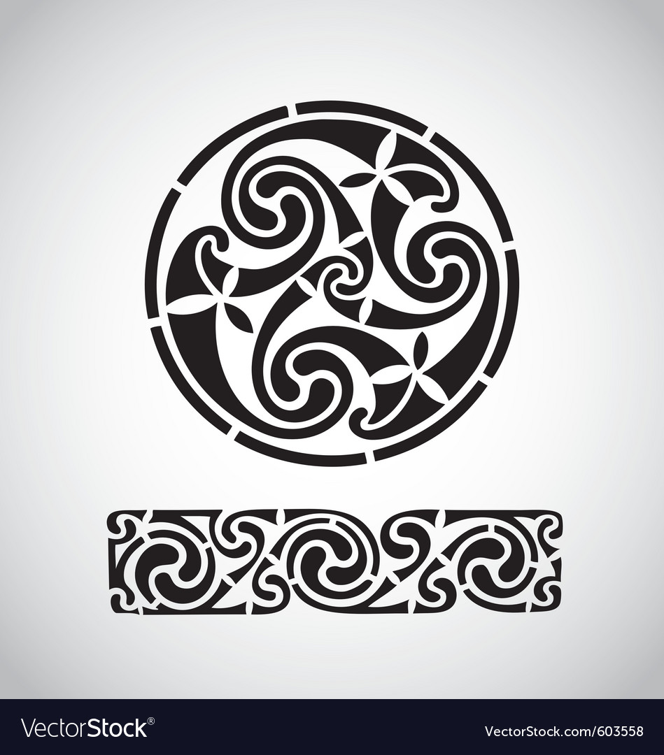 Circular celtic design vector | Price: 1 Credit (USD $1)
