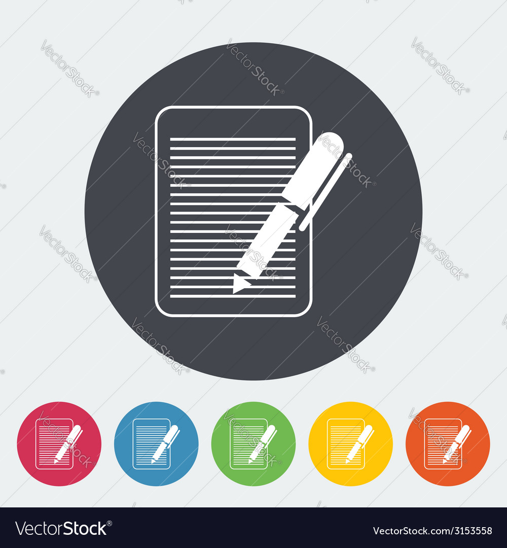 Document single flat icon vector | Price: 1 Credit (USD $1)