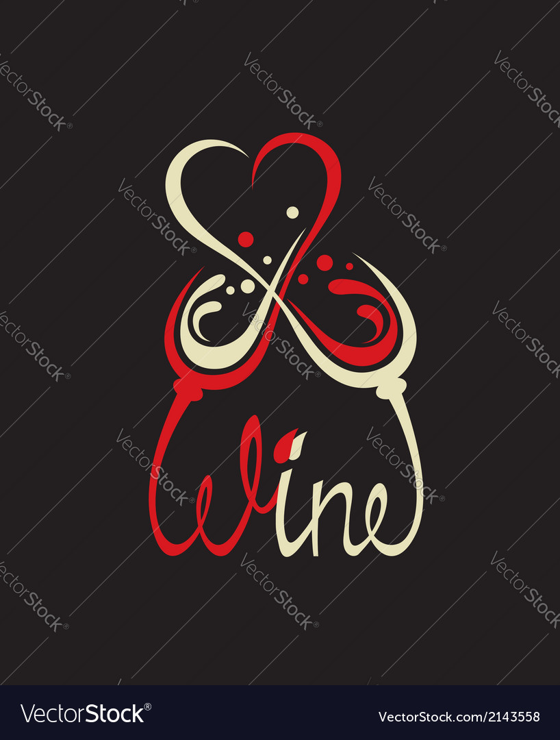 Glasses with red and white wine vector   Price: 1 Credit (USD $1)