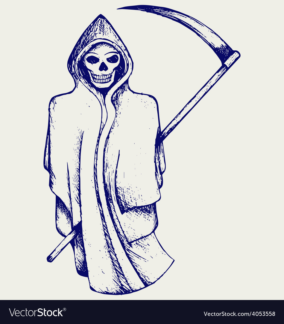 Hand inked grim reaper vector | Price: 1 Credit (USD $1)