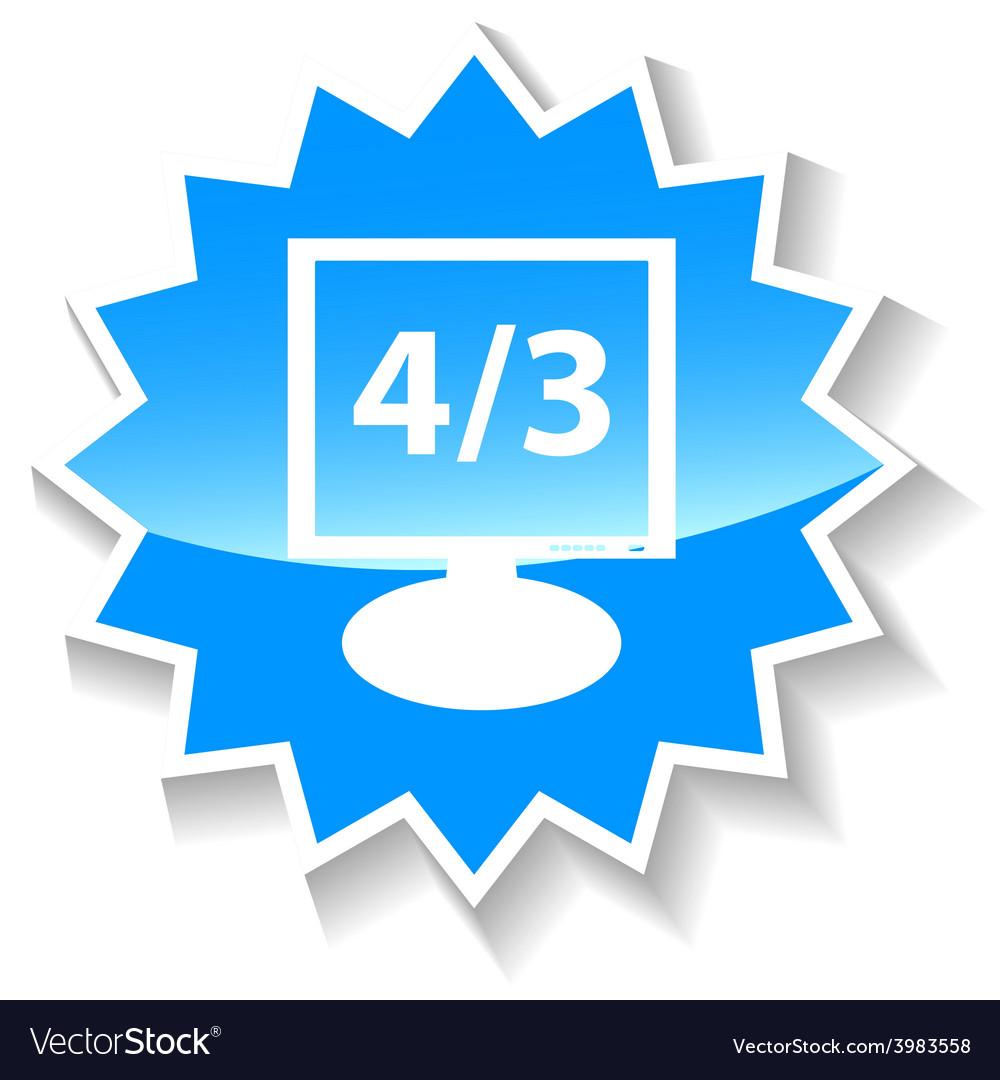 Monitor blue icon vector   Price: 1 Credit (USD $1)