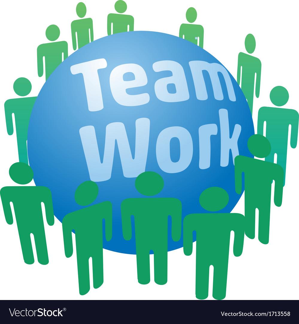 People work in teamwork team vector | Price: 1 Credit (USD $1)