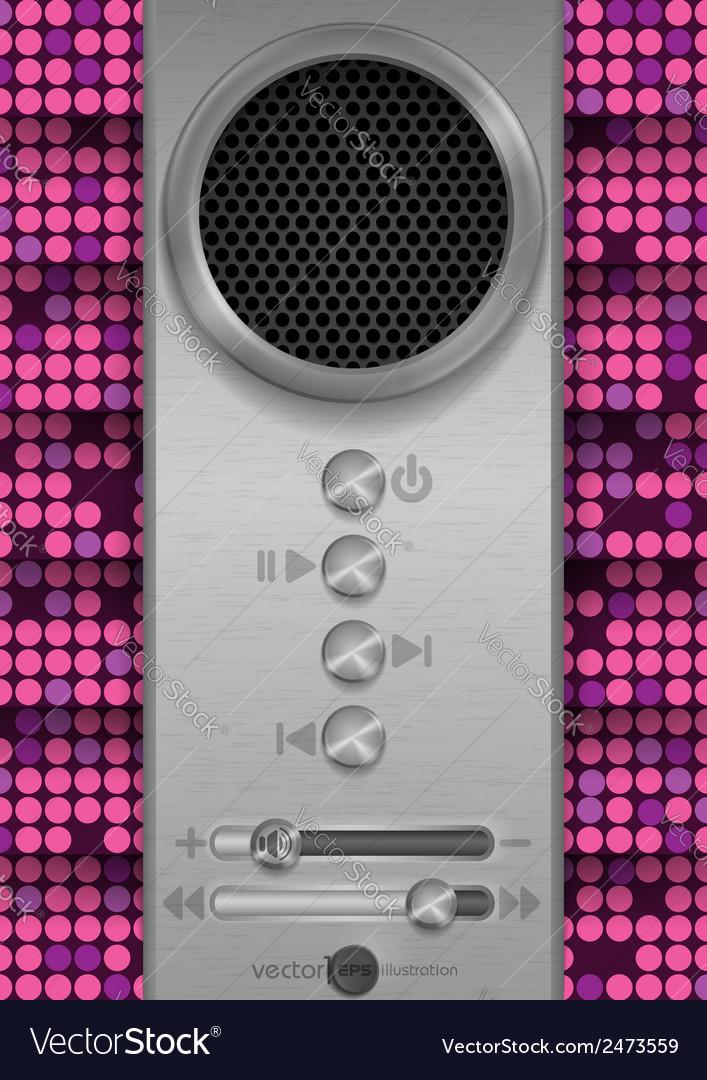 Abstract speaker concept design vector   Price: 1 Credit (USD $1)