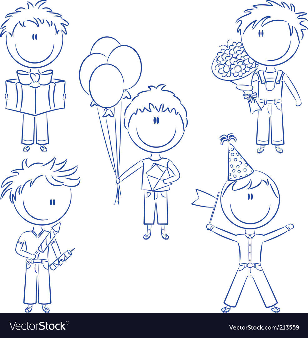Birthday and holiday kids vector | Price: 1 Credit (USD $1)