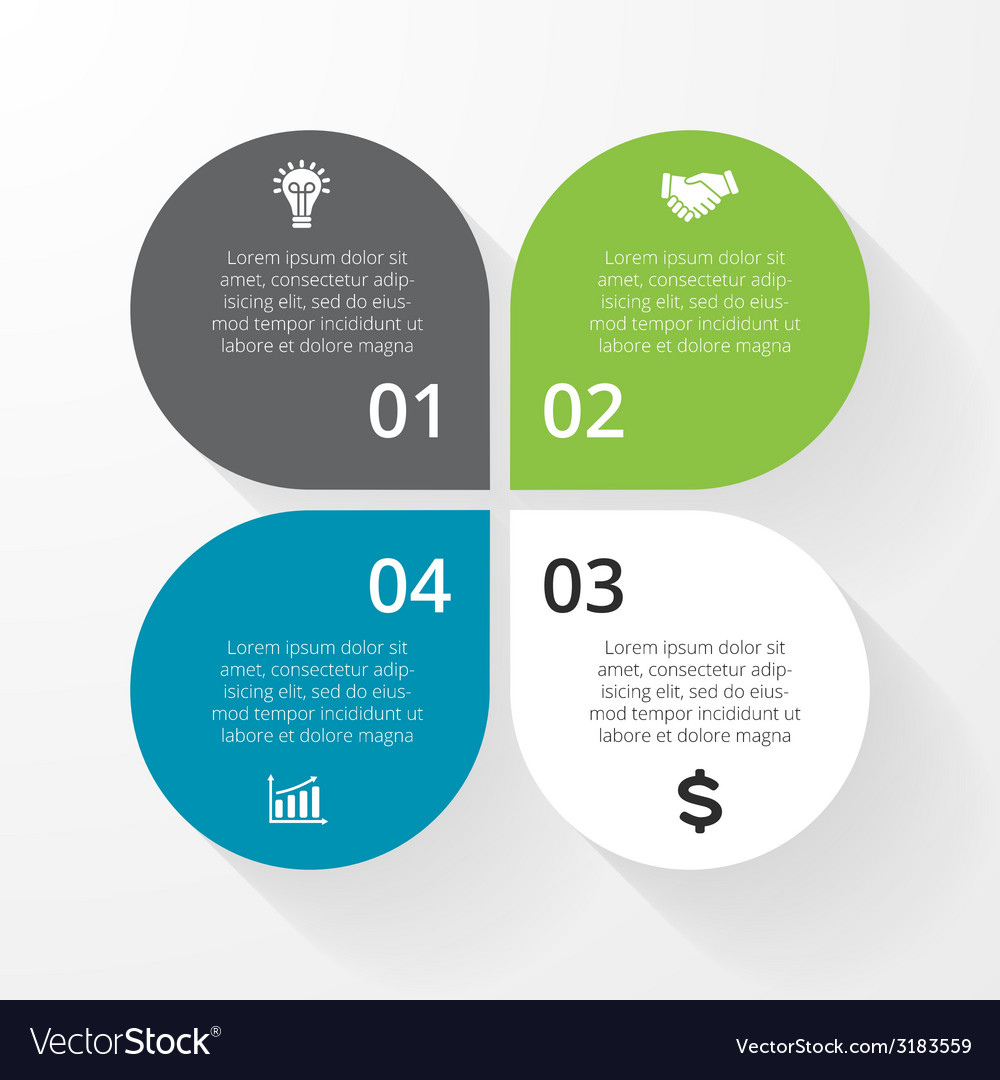 Business circle infographic diagram presentation 4 vector
