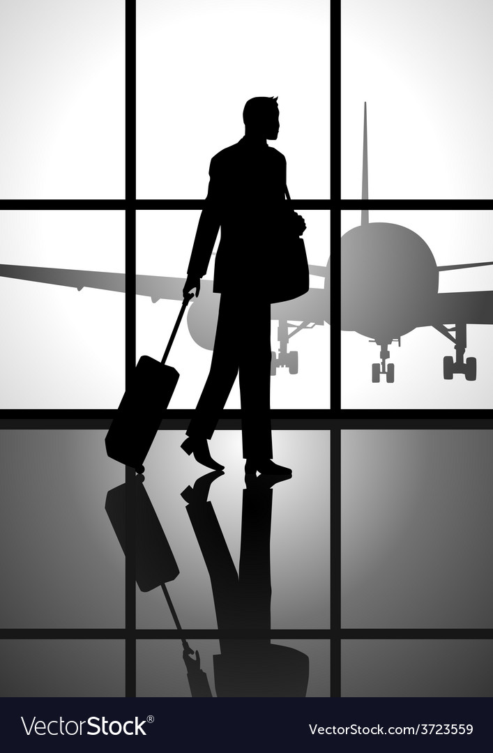 Business trip vector | Price: 1 Credit (USD $1)