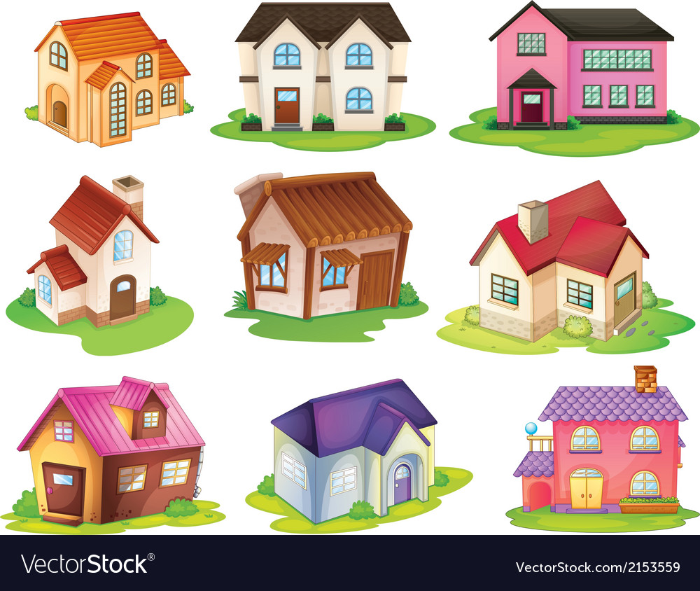 Different houses vector | Price: 1 Credit (USD $1)