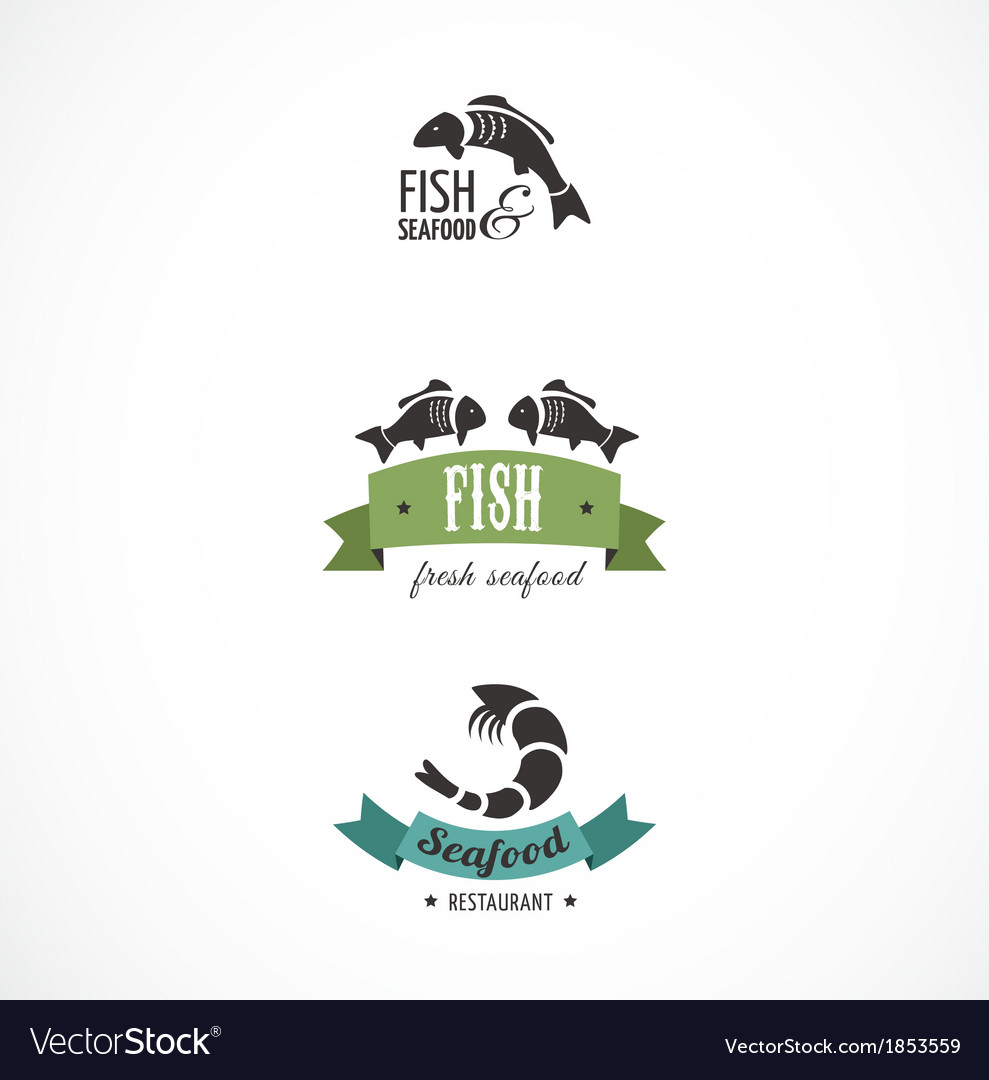 Fish icons and elements vector | Price: 1 Credit (USD $1)