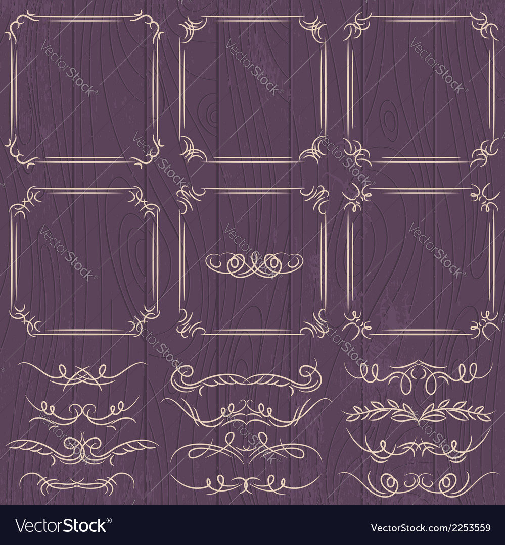 Floral decorative borders ornamental rules divider vector | Price: 1 Credit (USD $1)