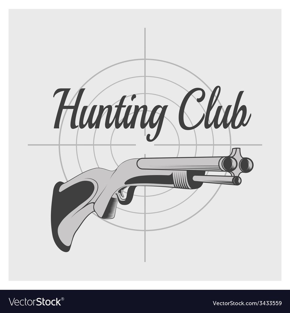 Hunting club v vector | Price: 1 Credit (USD $1)