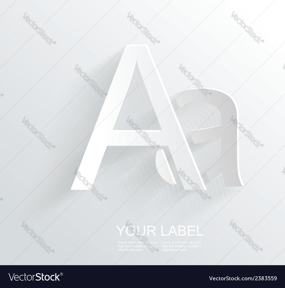 Letter a white paper symbol icon vector | Price: 1 Credit (USD $1)