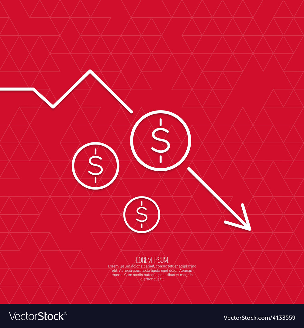Loss of points currency vector | Price: 1 Credit (USD $1)