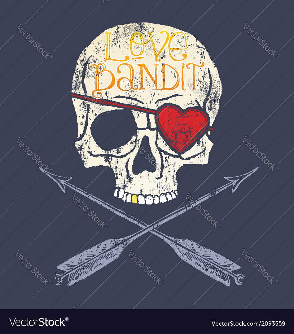 Love bandit skull vector | Price: 1 Credit (USD $1)