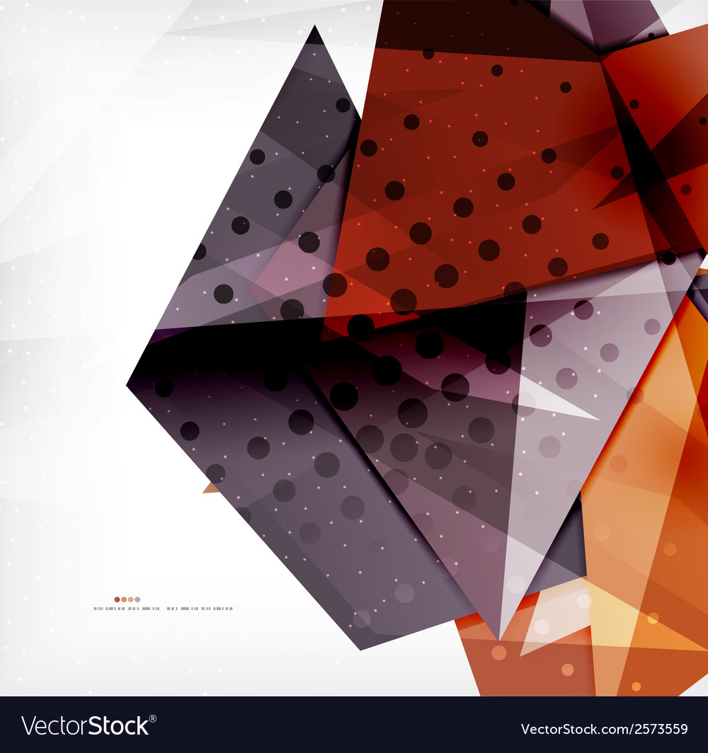 Modern 3d glossy overlapping triangles vector   Price: 1 Credit (USD $1)