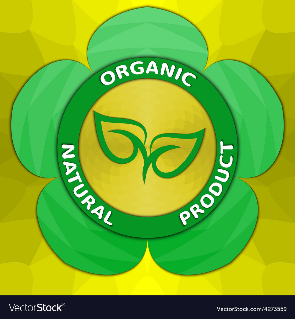 Organic natural product label vector | Price: 1 Credit (USD $1)