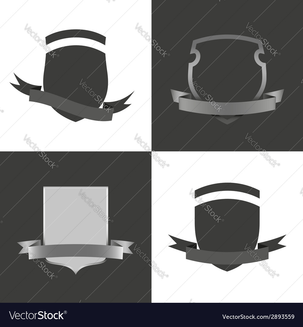 Set of badges with ribbons vector | Price: 1 Credit (USD $1)