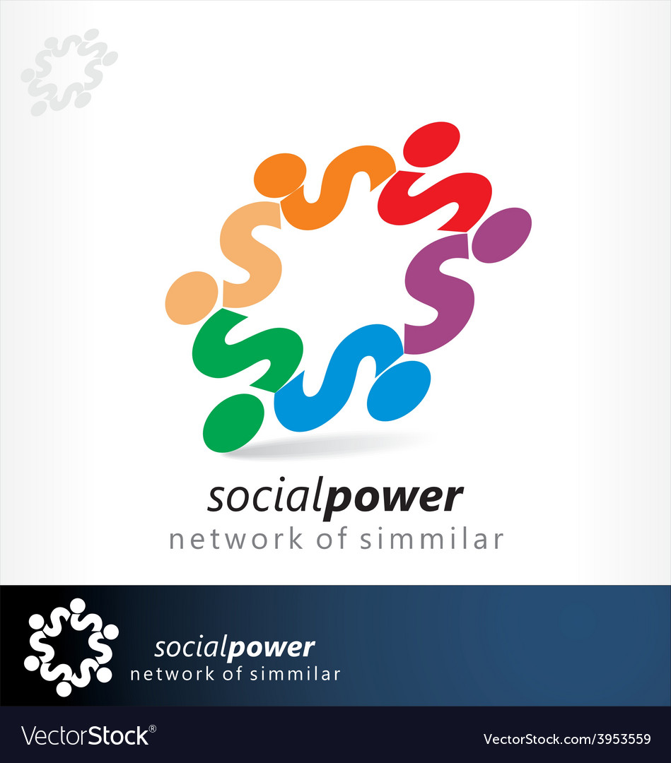 Social power vector | Price: 1 Credit (USD $1)