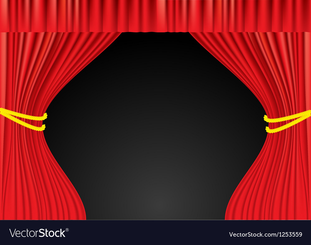 Theater red curtains vector | Price: 1 Credit (USD $1)