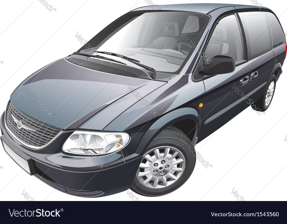 American minivan vector | Price: 5 Credit (USD $5)