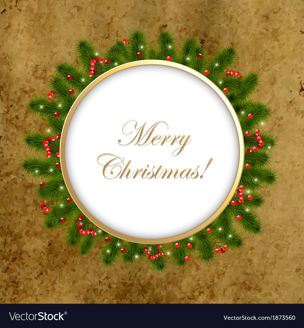 Christmas composition with old paper vector | Price: 1 Credit (USD $1)