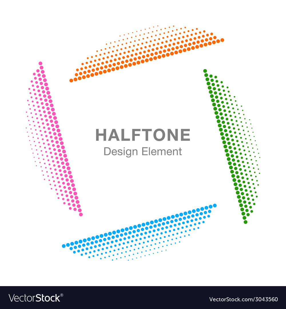 Colorful abstract halftone design element vector | Price: 1 Credit (USD $1)
