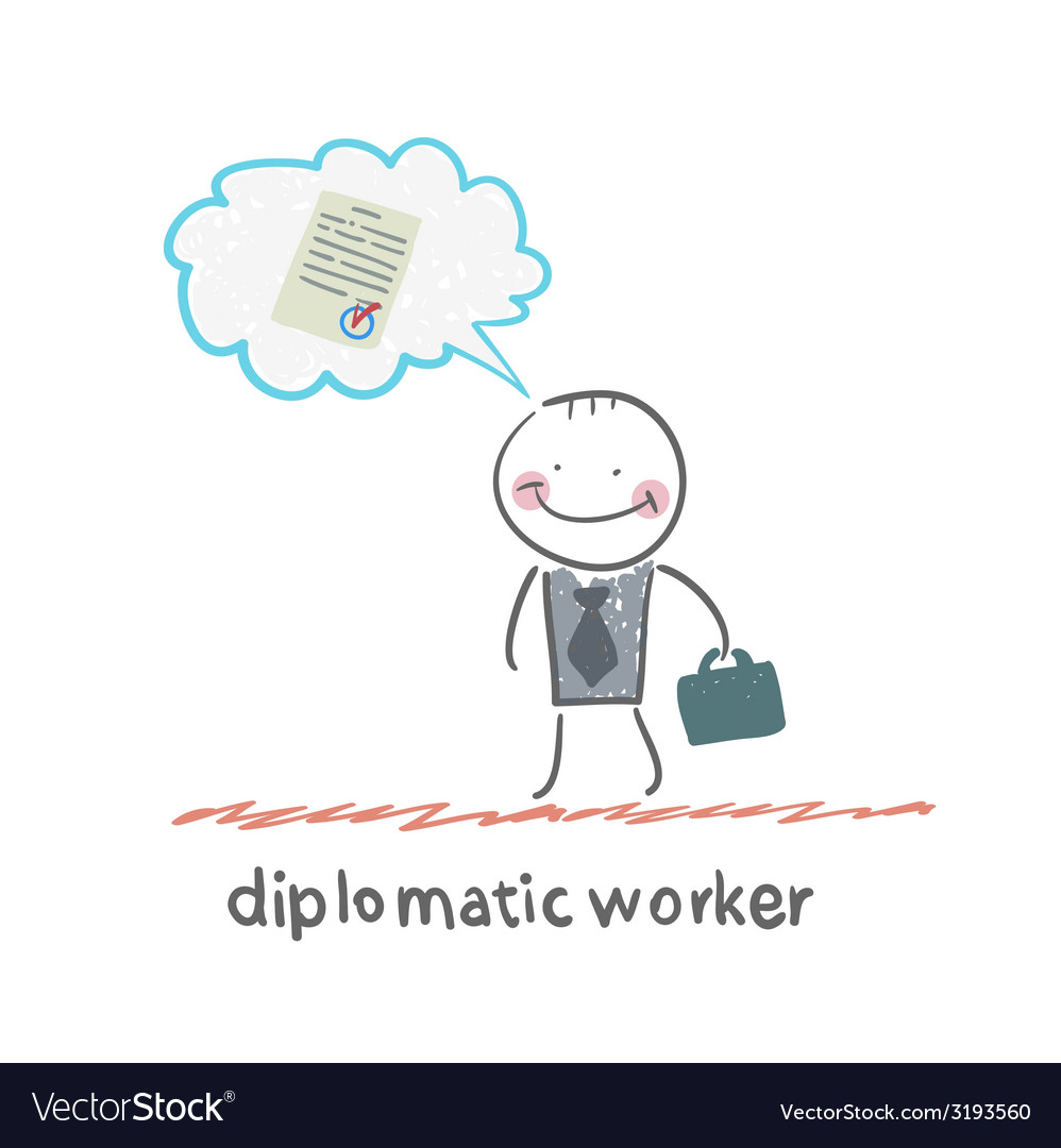 Diplomatic worker vector | Price: 1 Credit (USD $1)