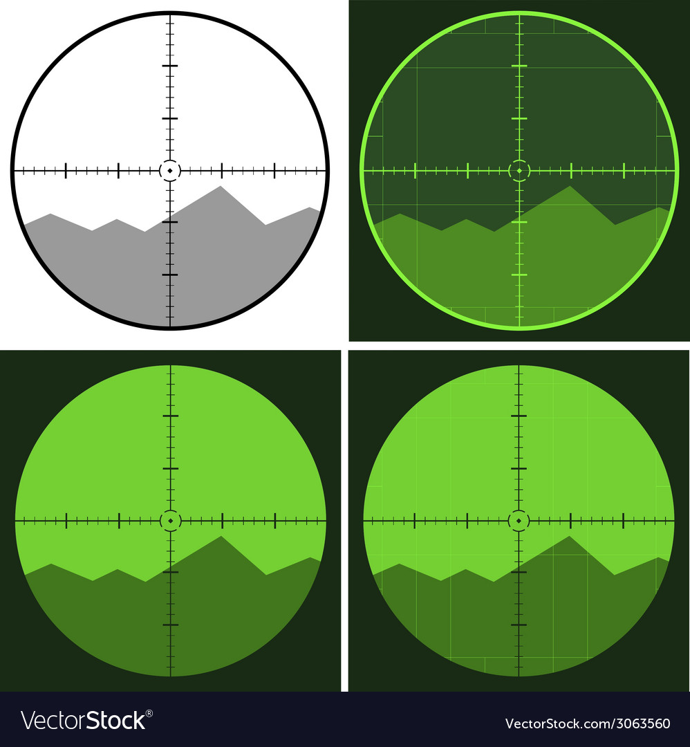 Gun crosshair sight vector | Price: 1 Credit (USD $1)