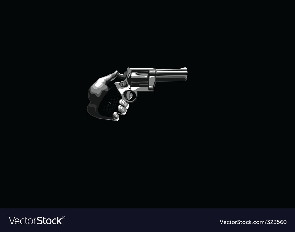 Gun in the hand vector | Price: 1 Credit (USD $1)