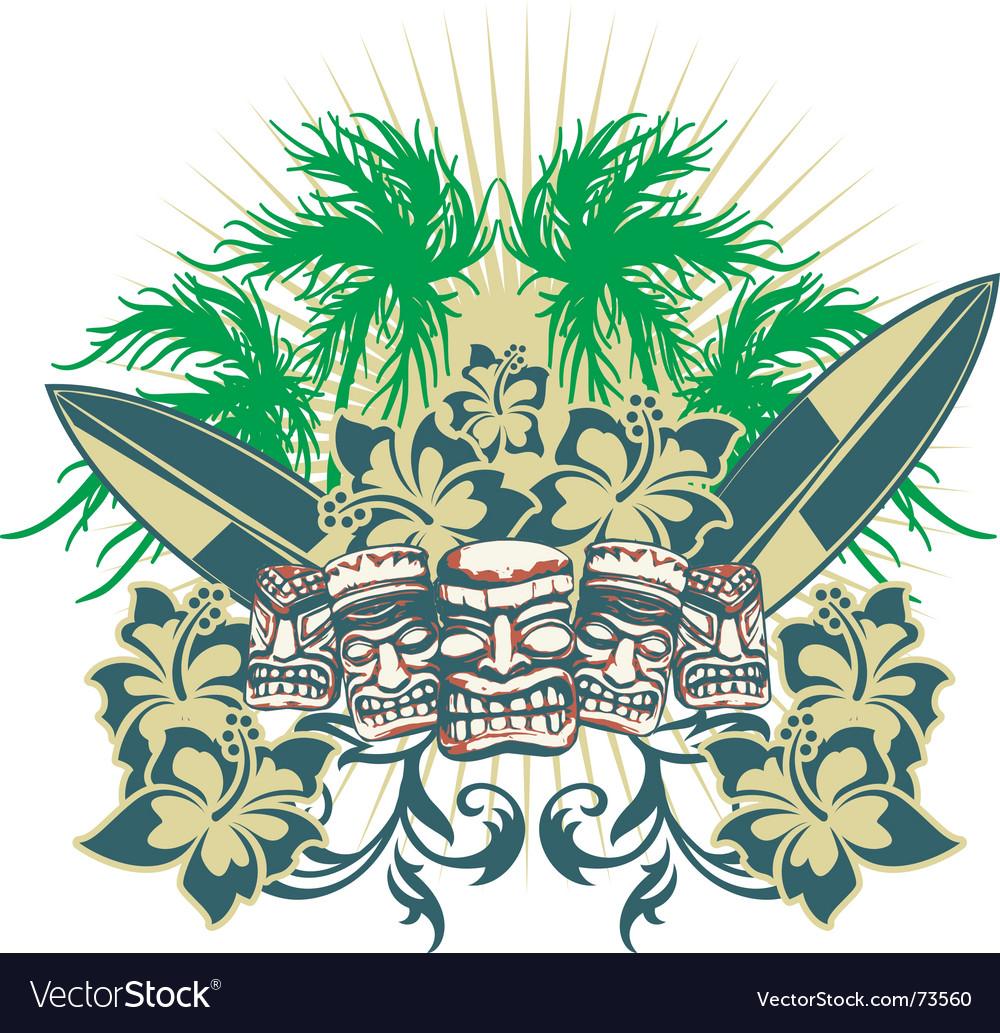 Islands vector | Price: 1 Credit (USD $1)