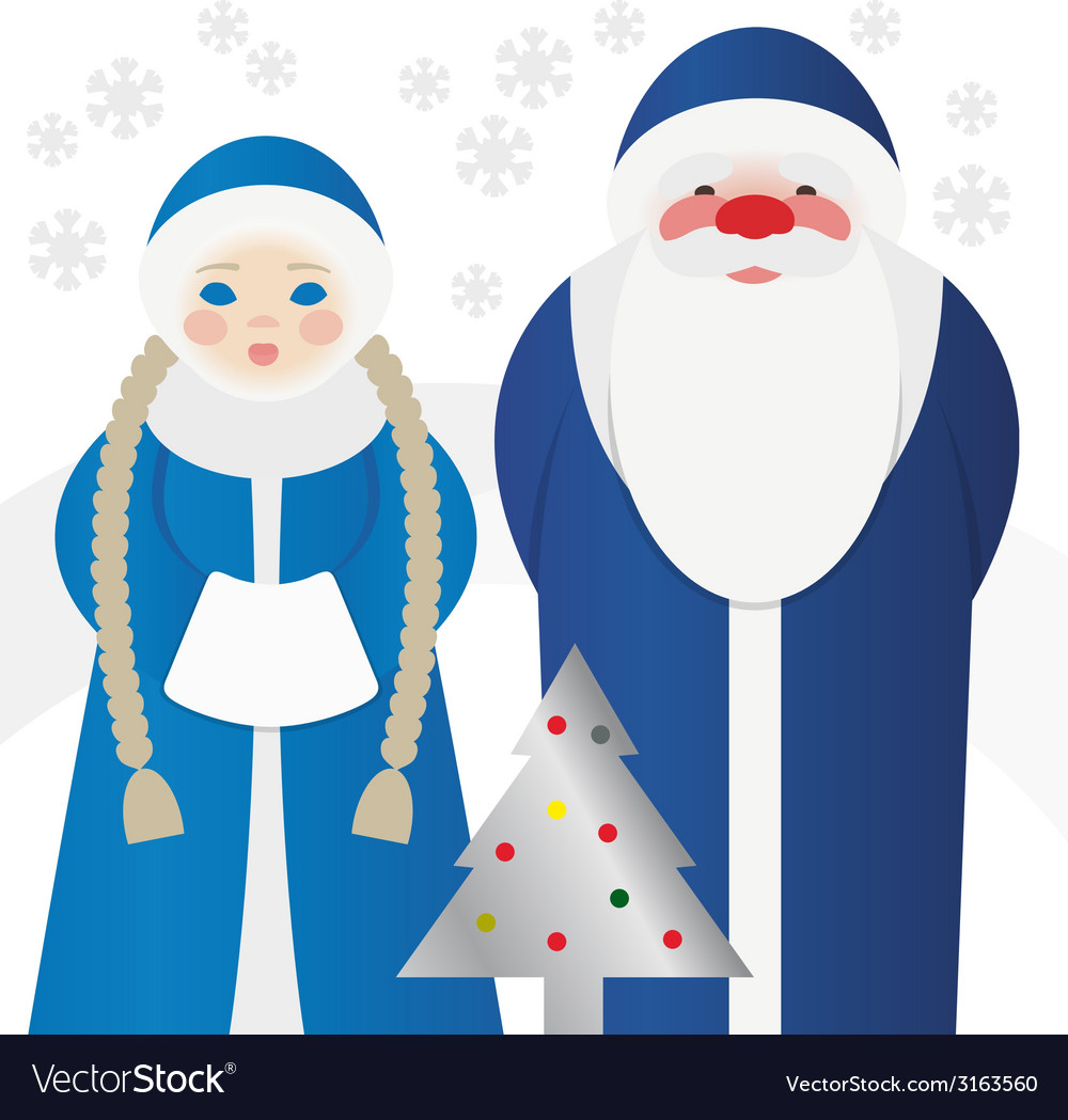 Jack frost and snegurochka vector | Price: 1 Credit (USD $1)