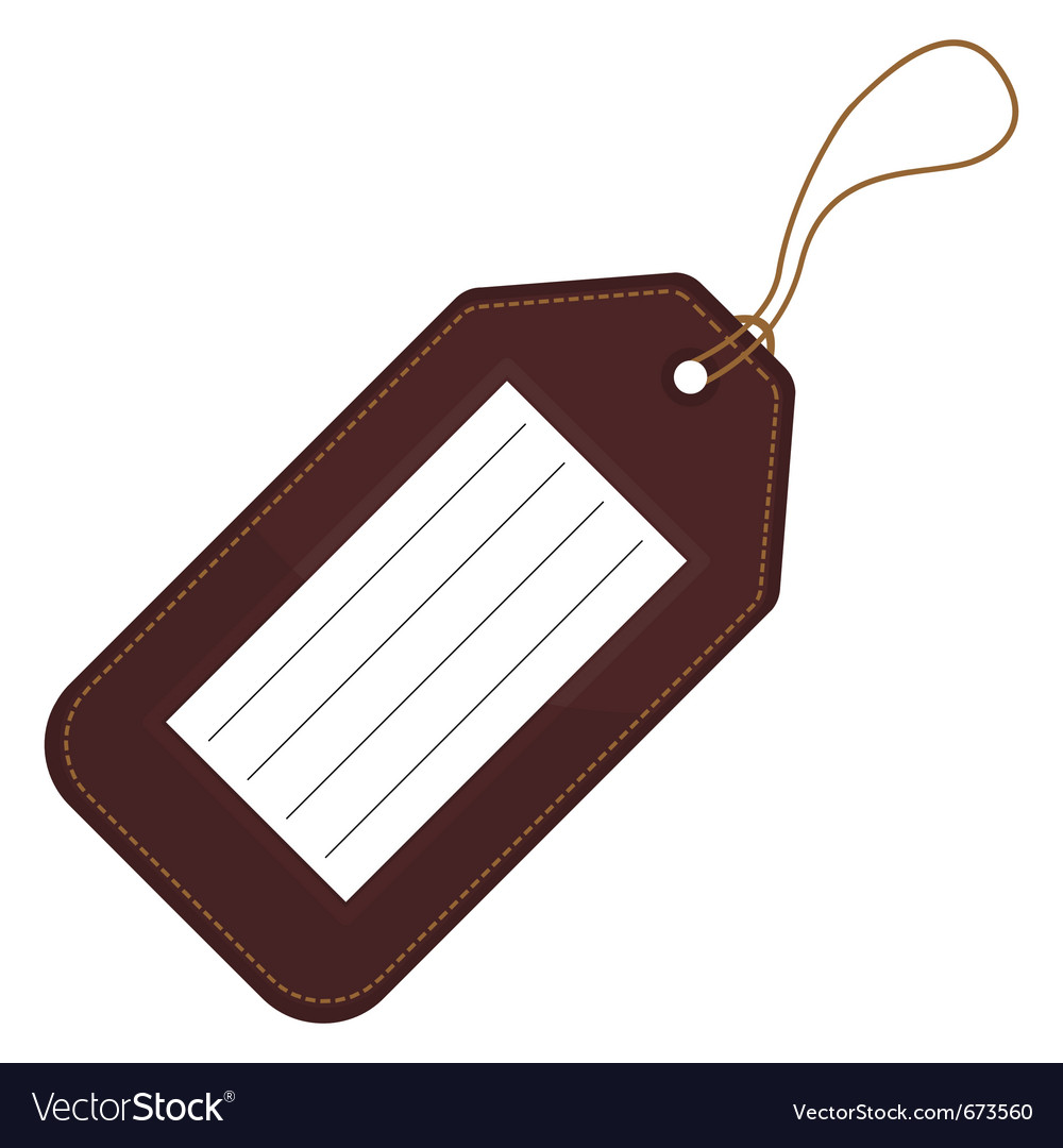 Luggage tag vector | Price: 1 Credit (USD $1)