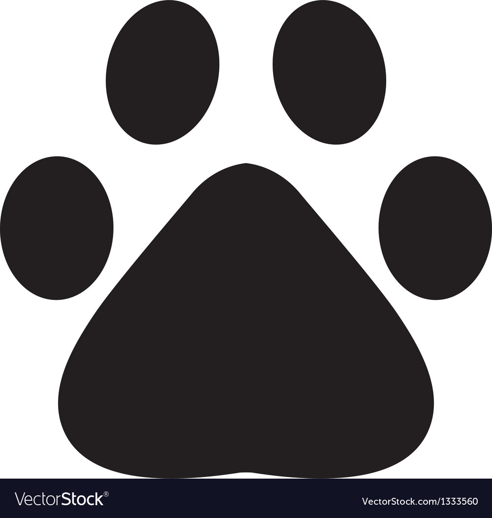 Paw footprint vector | Price: 1 Credit (USD $1)