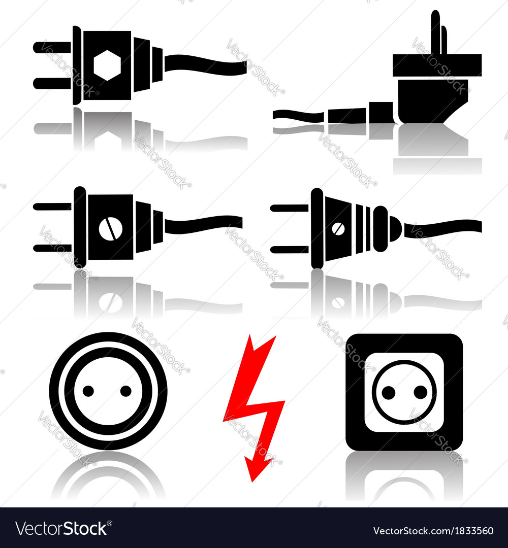 Plugs and sockets vector | Price: 1 Credit (USD $1)