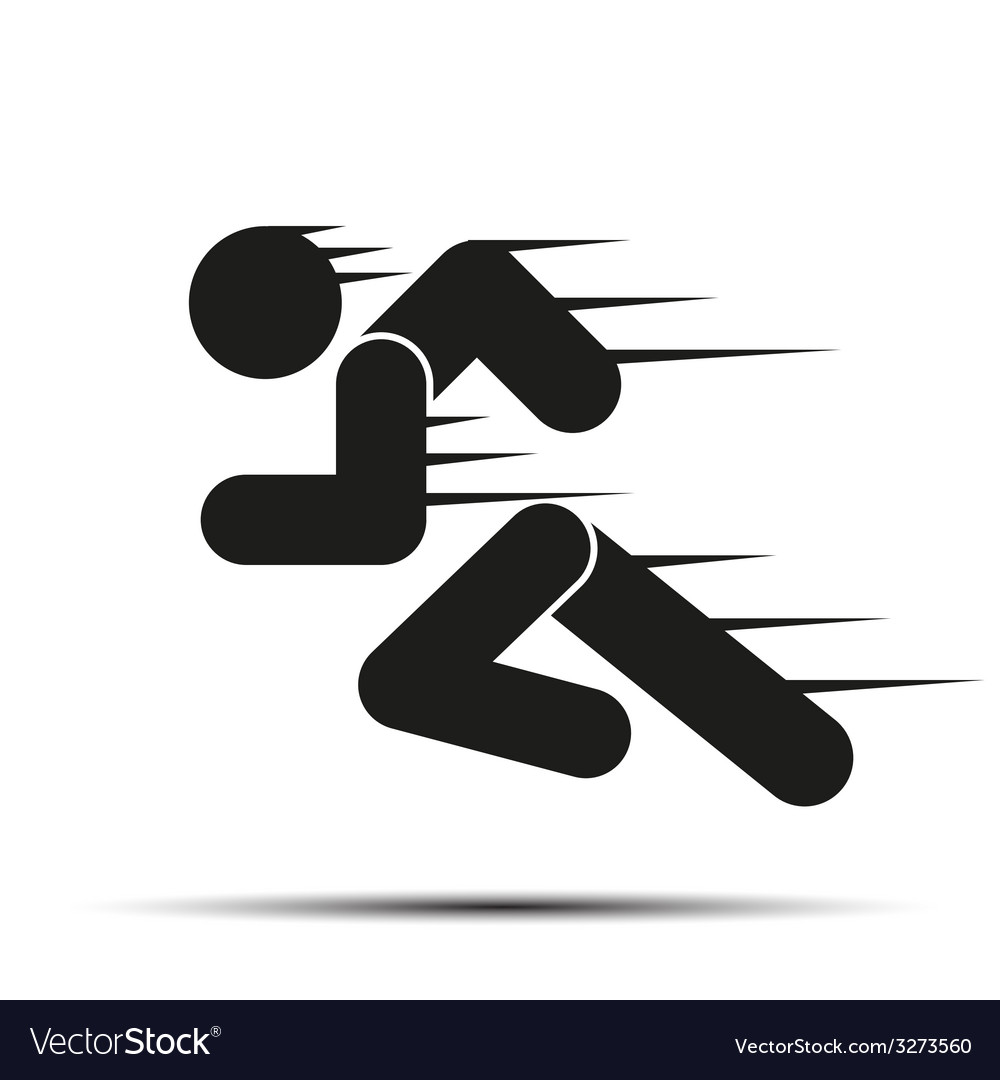 Running people in motion simple symbol of run vector | Price: 1 Credit (USD $1)