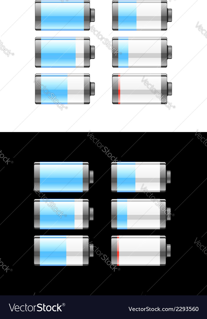 Set of batteries or cells showing the charge vector | Price: 1 Credit (USD $1)