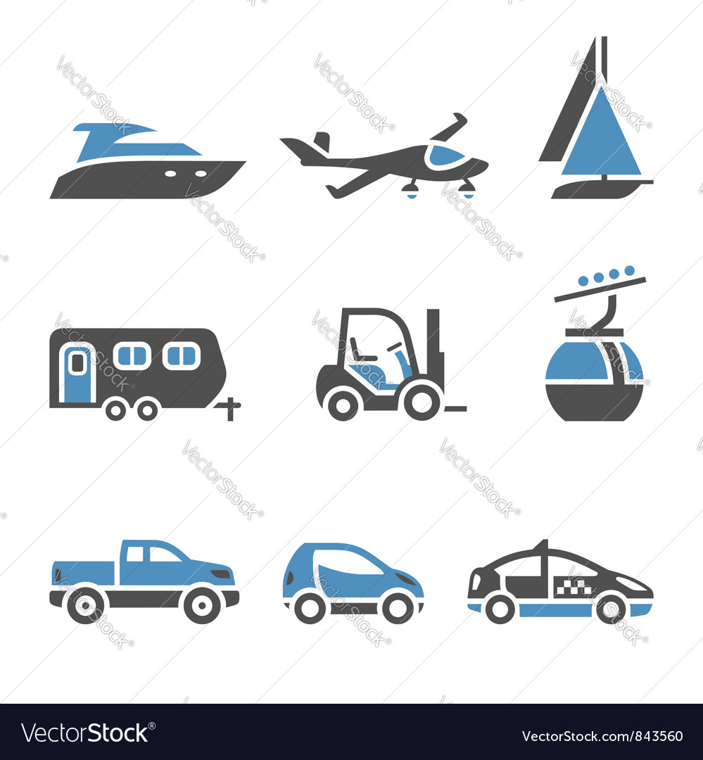 Transport icons - a set of first vector | Price: 1 Credit (USD $1)