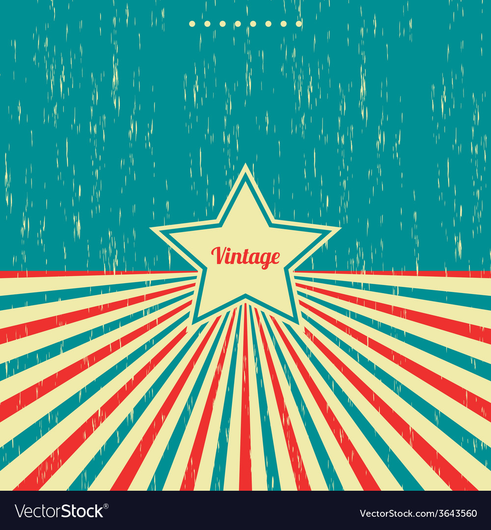 Vintage theme background template vector | Price: 1 Credit (USD $1)