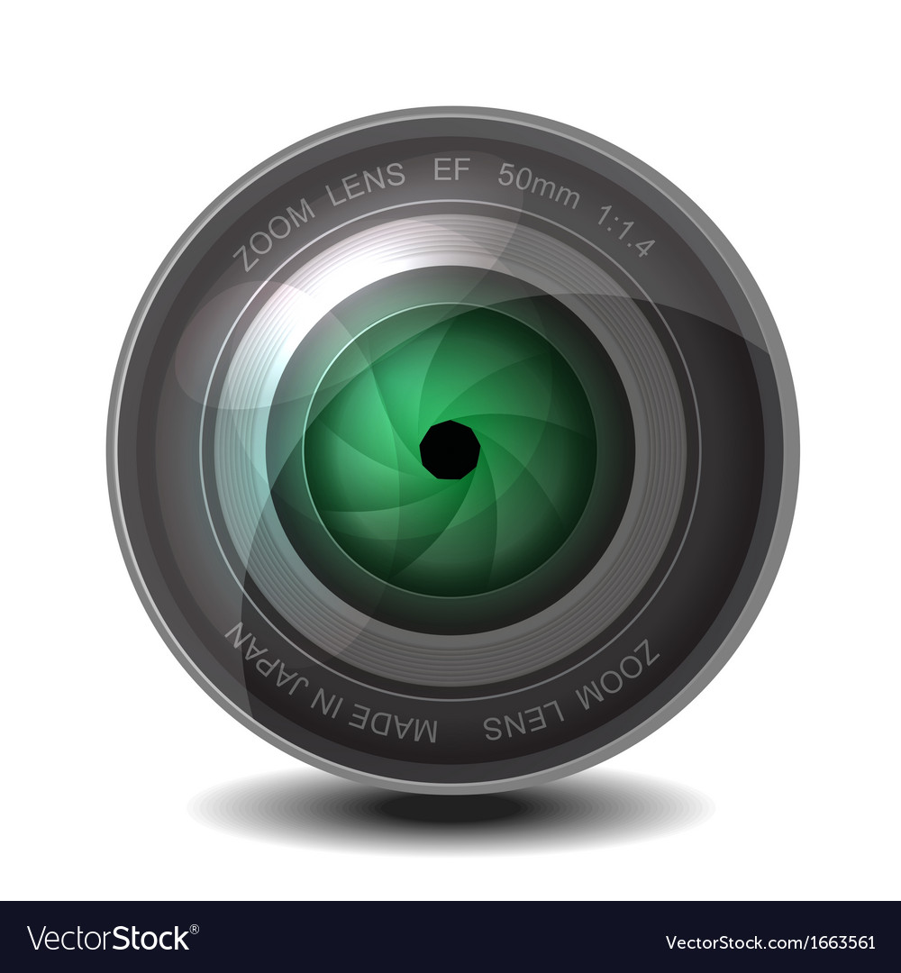 Camera photo lens with shutter vector   Price: 1 Credit (USD $1)