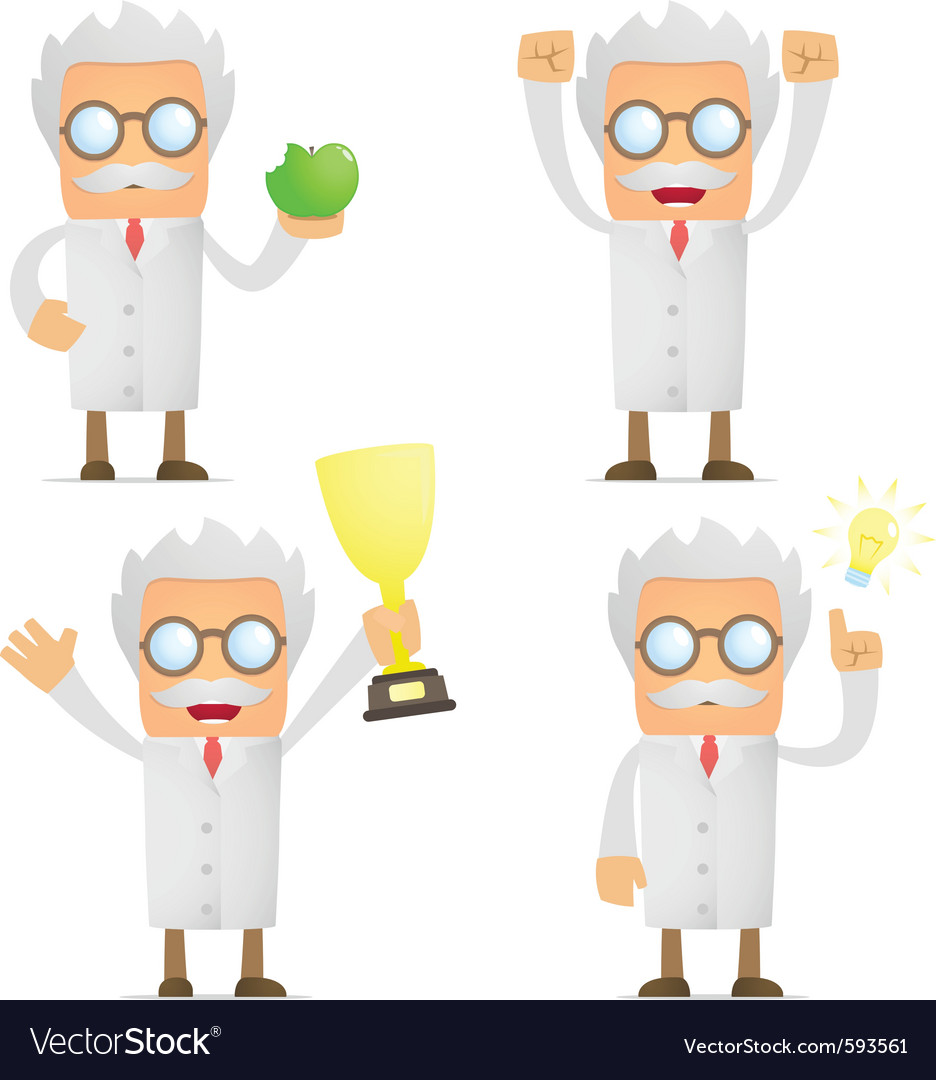 Cartoon scientist vector | Price: 1 Credit (USD $1)