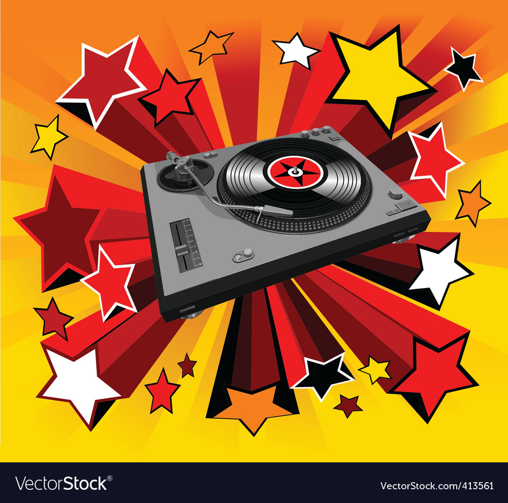 Disco player star vector | Price: 3 Credit (USD $3)
