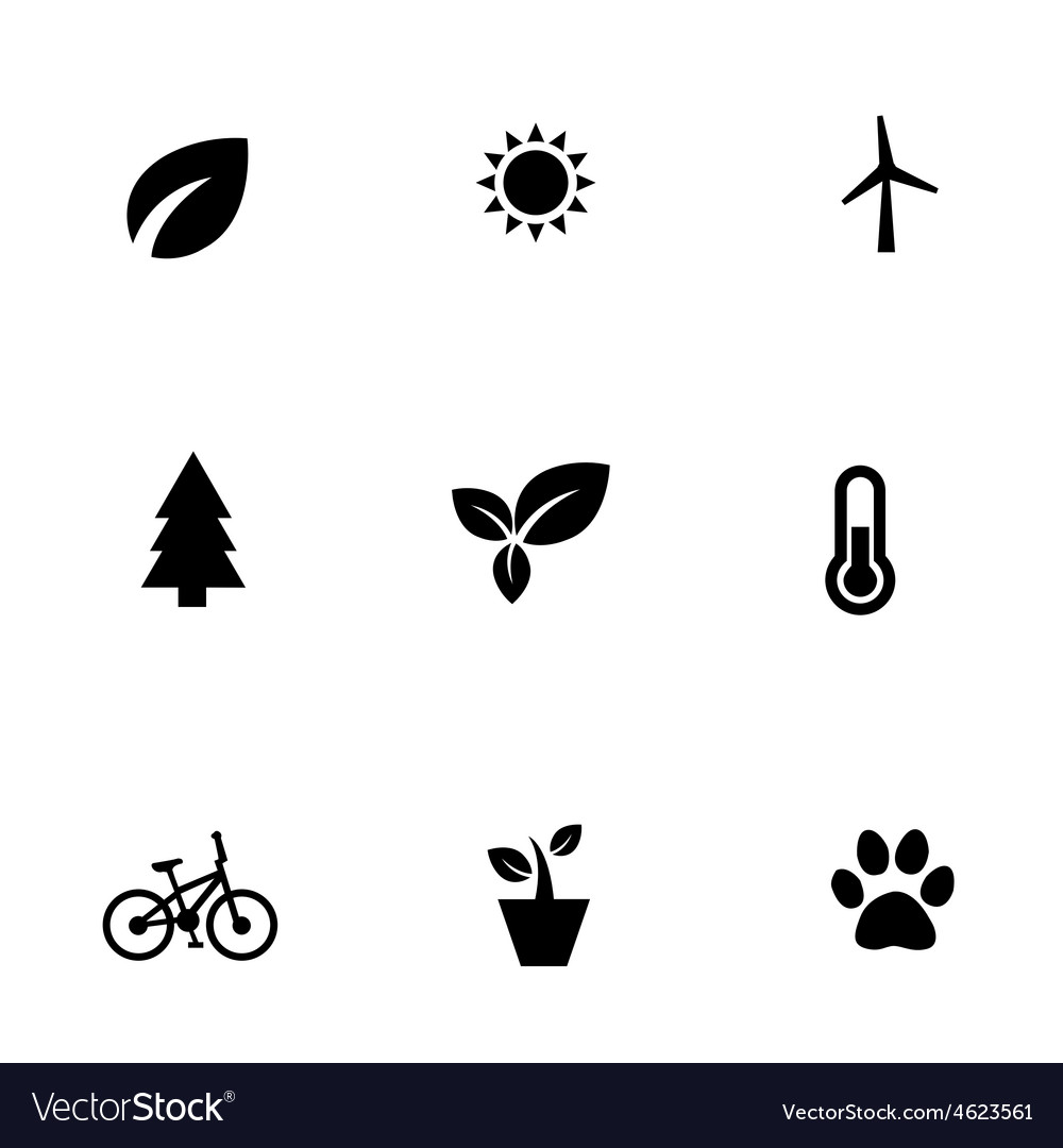 Ecology 9 icons set vector | Price: 1 Credit (USD $1)