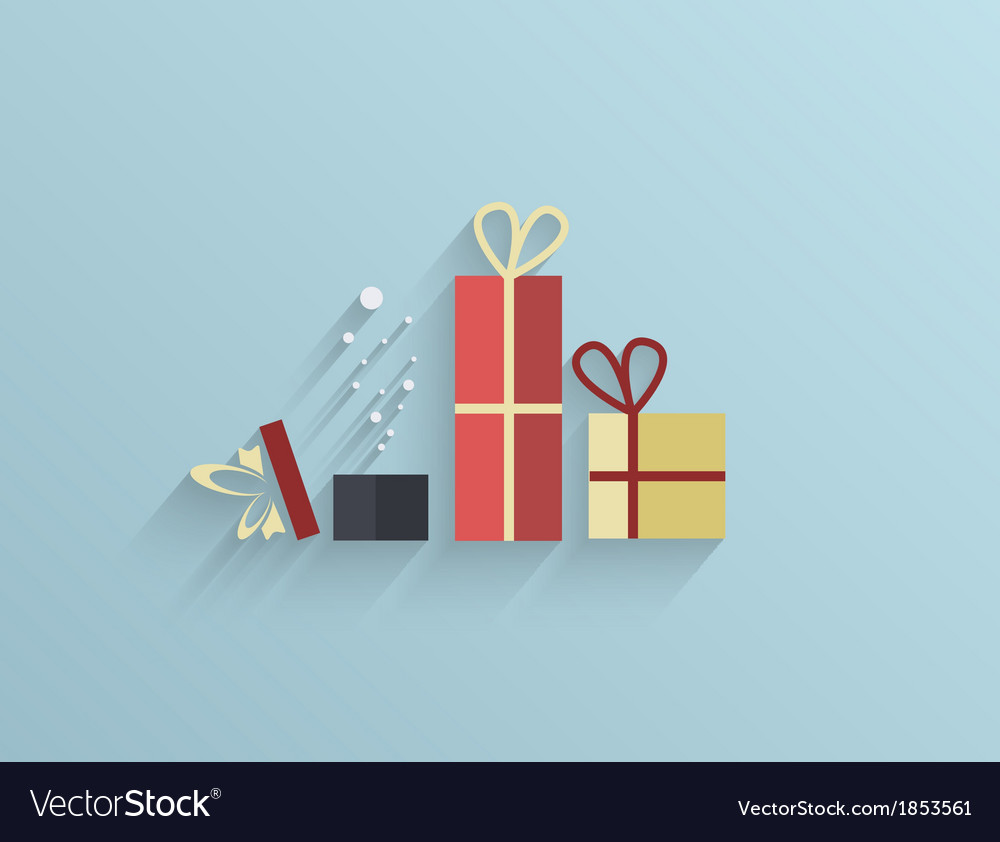 Flat gifts background eps10 vector | Price: 1 Credit (USD $1)