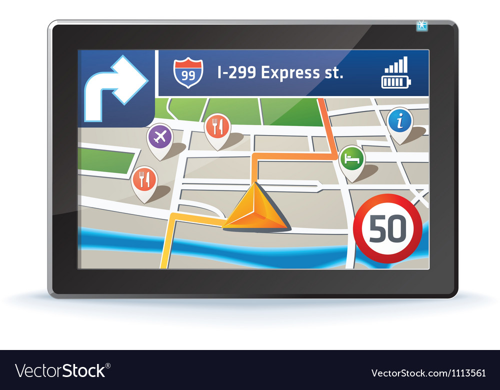Gps map vector | Price: 1 Credit (USD $1)