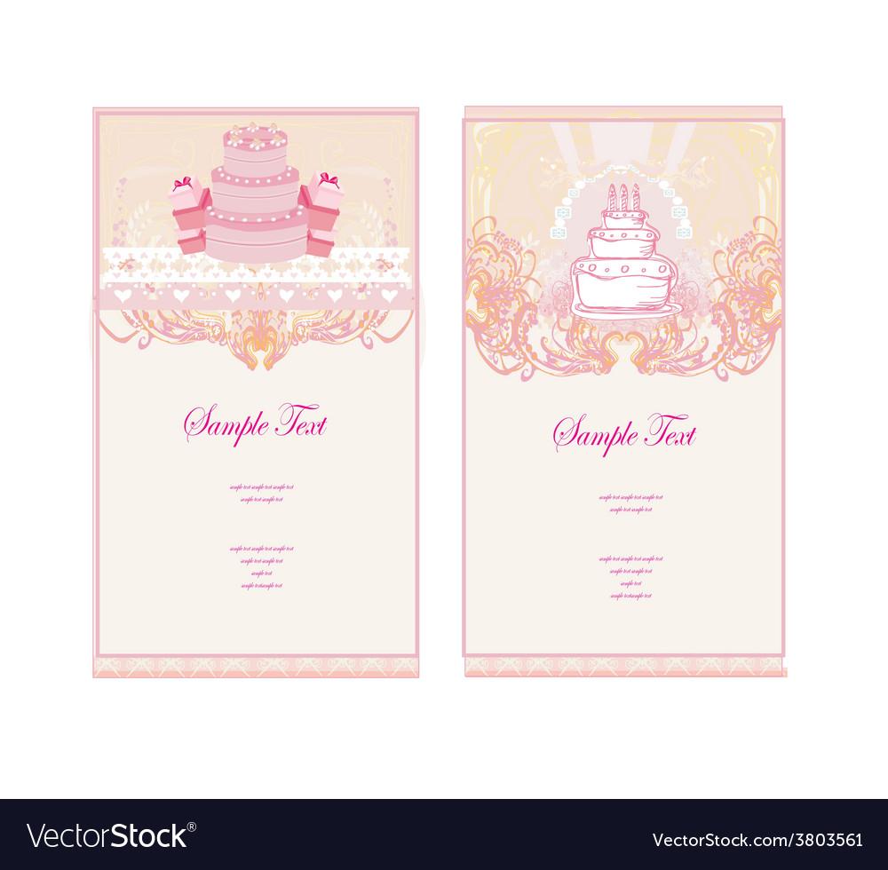 Happy birthday card set vector   Price: 1 Credit (USD $1)