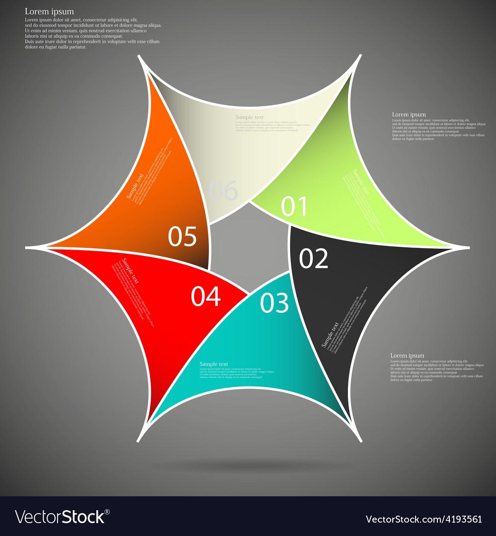 Hexagon star on dark background vector   Price: 1 Credit (USD $1)